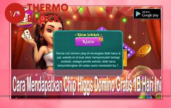 Cara Mendapatkan Chip Higgs Domino Gratis 1B Hari Ini